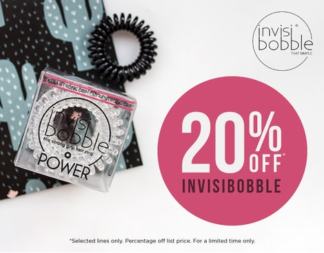 20% OFF SELECTED* INVISIBOBBLE