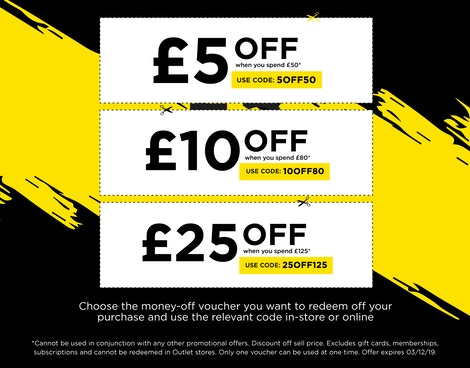 SAVE UP TO £25 OFF*