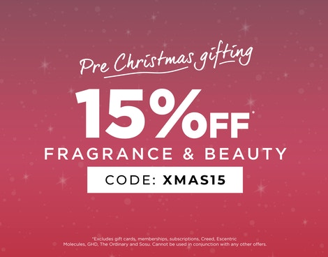 Get 15% off Fragrance & Beauty