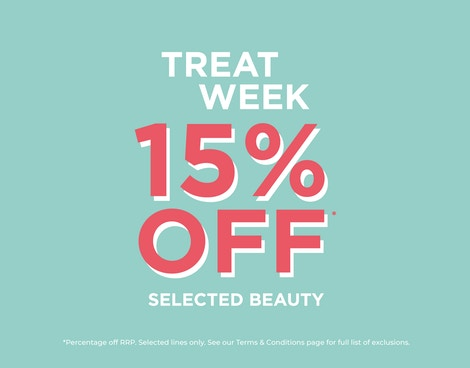 15% OFF* SELECTED BEAUTY