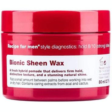 Recipe For Men Bionic Sheen Wax 80ml