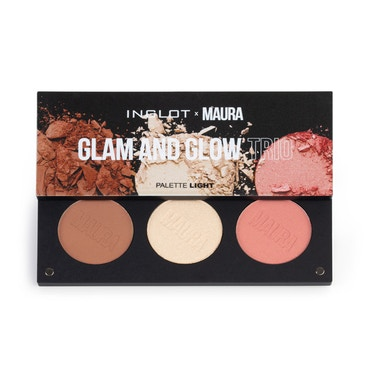 Inglot x Maura - Glam And Glow Trio Palette - Light