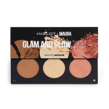 Inglot x Maura - Glam And Glow Trio Palette - Medium