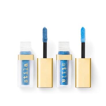 Stila Double Dip Suede Shade and Glitter & Glow Liquid Eye Shadows -Blue Jean