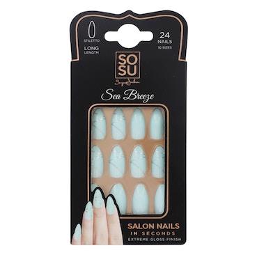SOSU By Suzanne Jackson - Long Stiletto False Nails - Sea Breeze