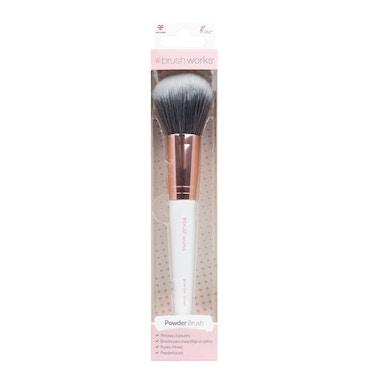 Brushworks - White & Rose Gold Powder Brush