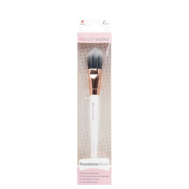 Brushworks - White & Rose Gold Foundation Brush