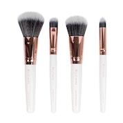 Brushworks - White & Rose Gold Travel Makeup Brush Set